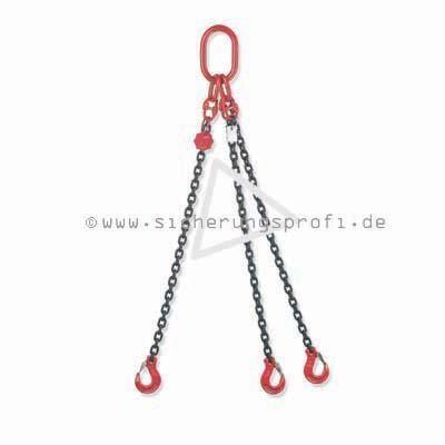 Kettengehänge 3-strang, 11.200 kg Tragkraft bei 0 - 45 Grad