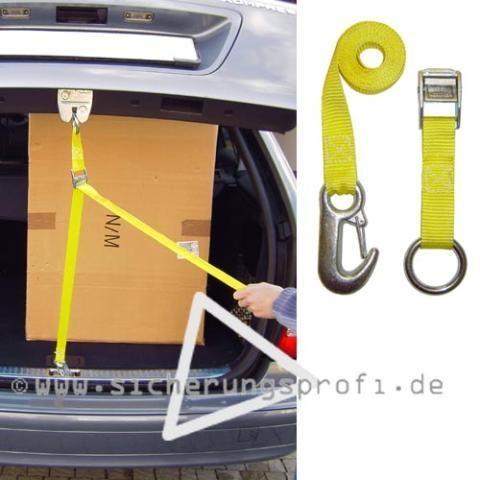 Kofferraum Haltegurt für PKW, 1,70 Länge, gelb