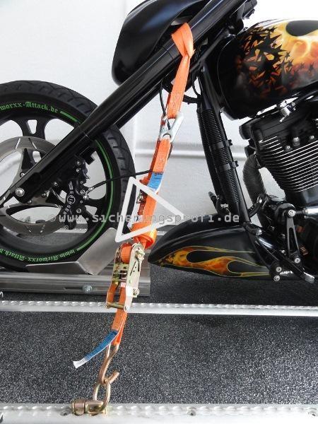 Bike-Lashing-Set Vorderrad, Zugkraft 1.500 daN, 6teilig