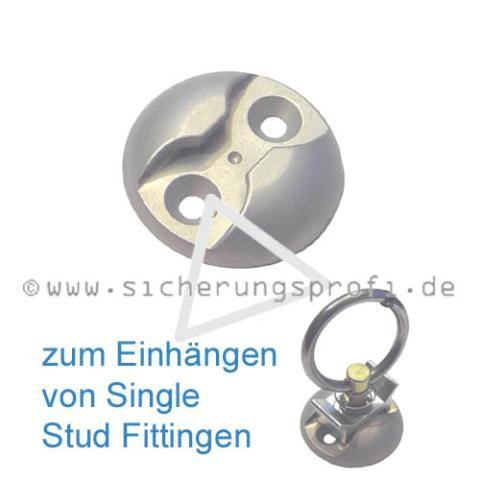 Zurrmulde, rund, für Single Stud Fittinge