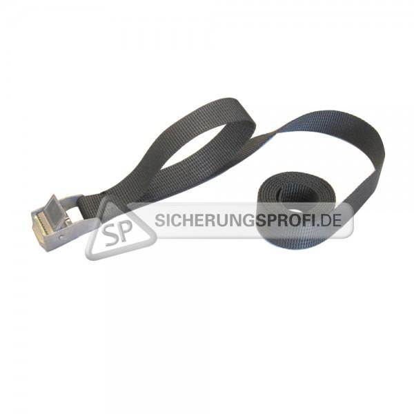 Spannband / Spannriemen, schwarz, mit Metall-Klemmschloss