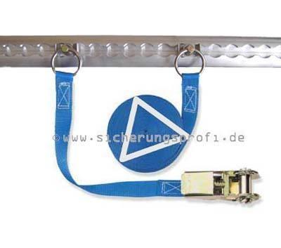 Zurrgurt 800 daN, 25 mm breit, mit Lochbeschlag / Fitting