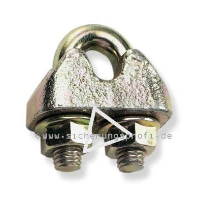 Drahtseilklemme, für 19 mm Seildurchmesser